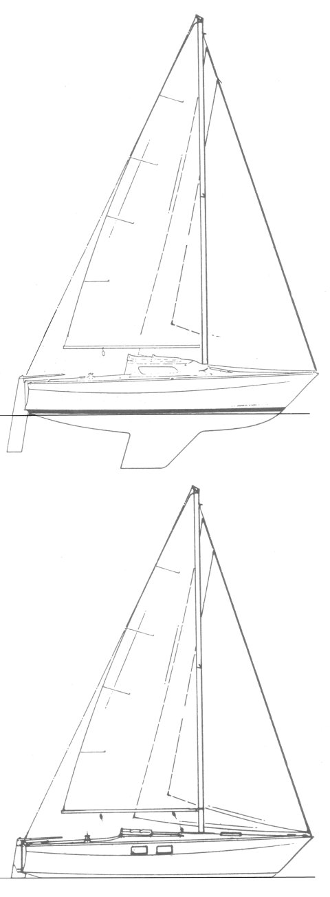 Haida 26 drawing on sailboatdata.com