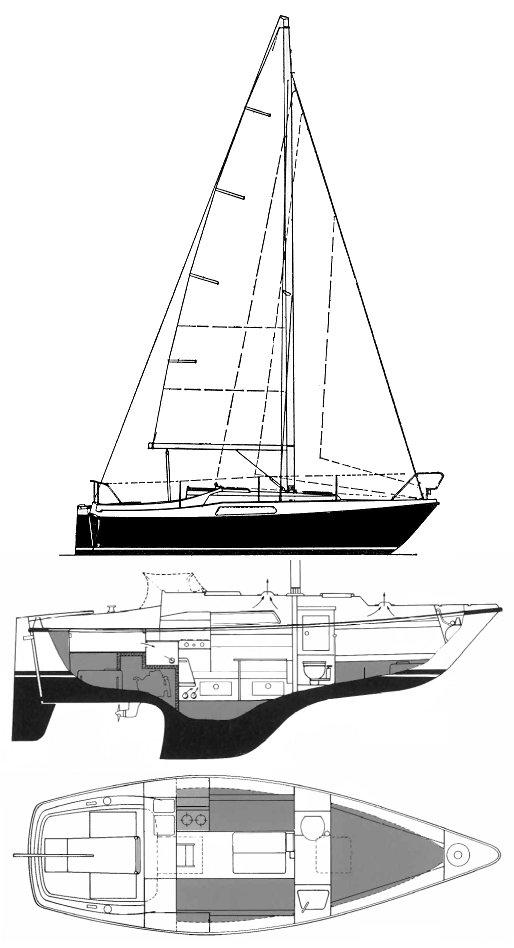 HALLBERG-RASSY 26 drawing