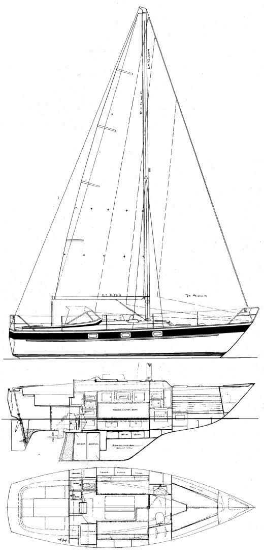 HALLBERG-RASSY 312 drawing