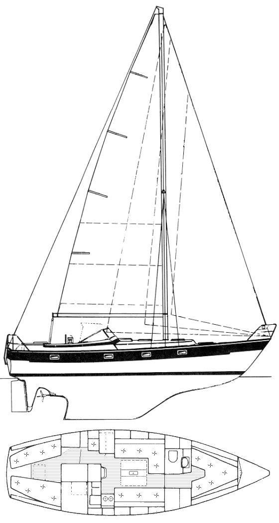 HALLBERG-RASSY 352 drawing