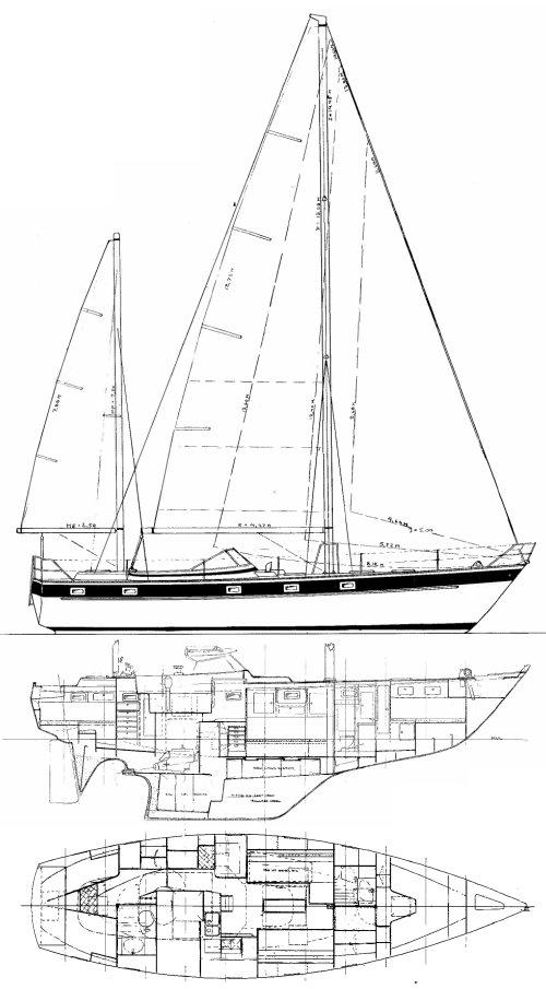 HALLBERG-RASSY 42 (ENDERLEIN) drawing