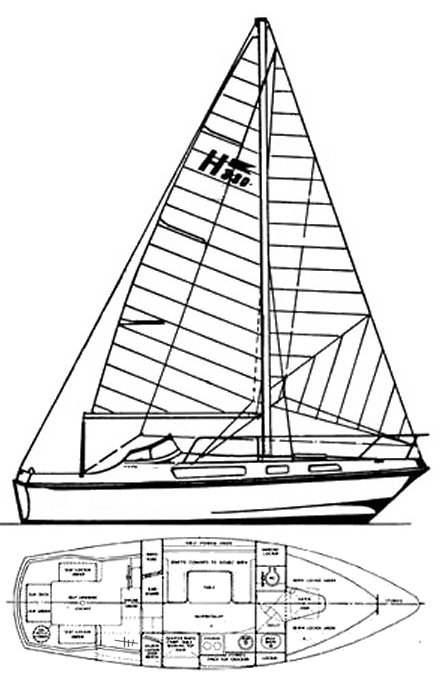 Halmatic 880 drawing on sailboatdata.com