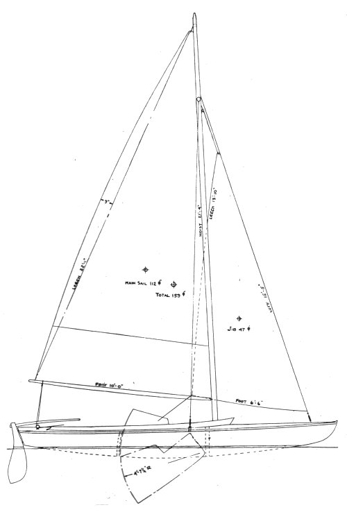 Hampton One-Design drawing on sailboatdata.com