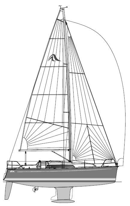 HANSE 320 drawing