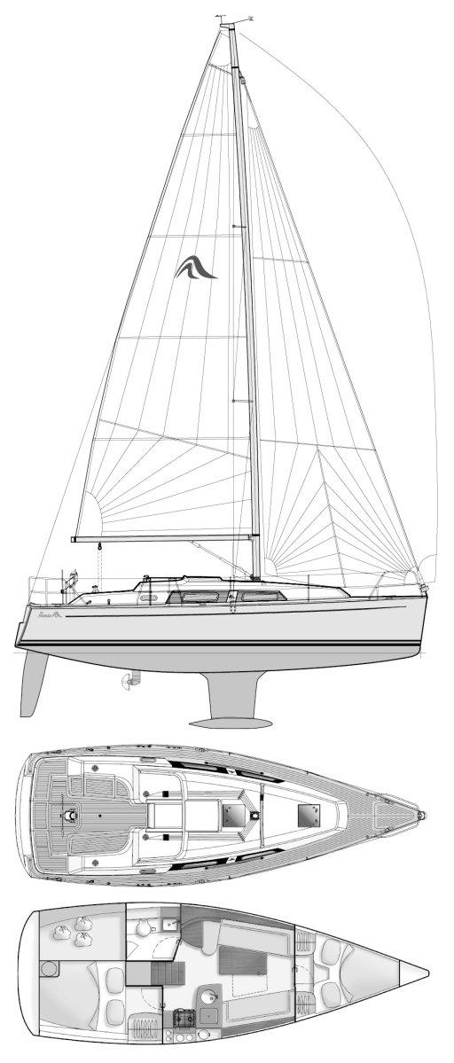 HANSE 325 drawing