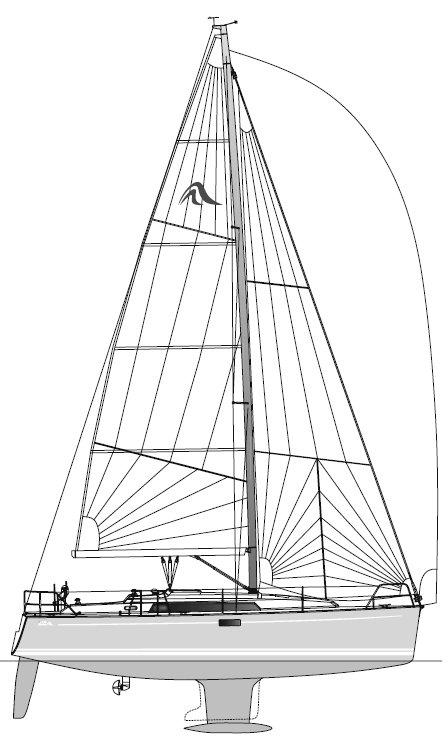 HANSE 350 drawing
