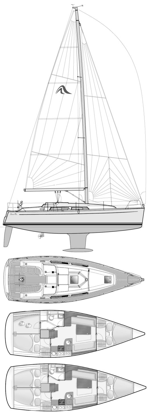 HANSE 355 drawing