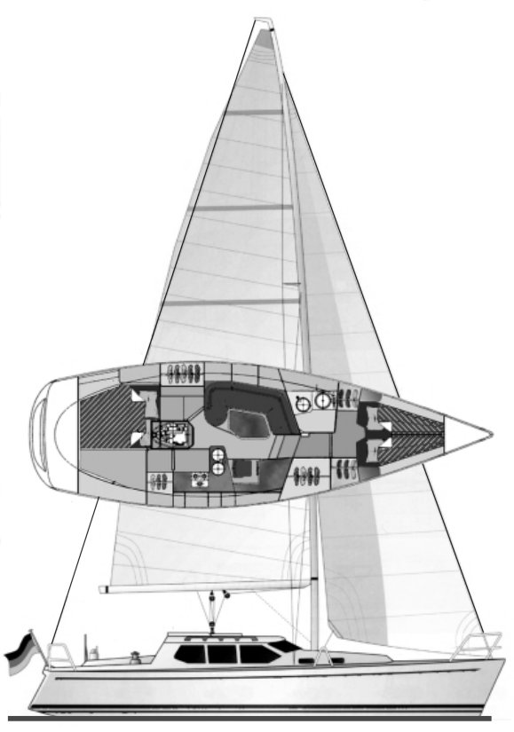 HANSE 371DS drawing