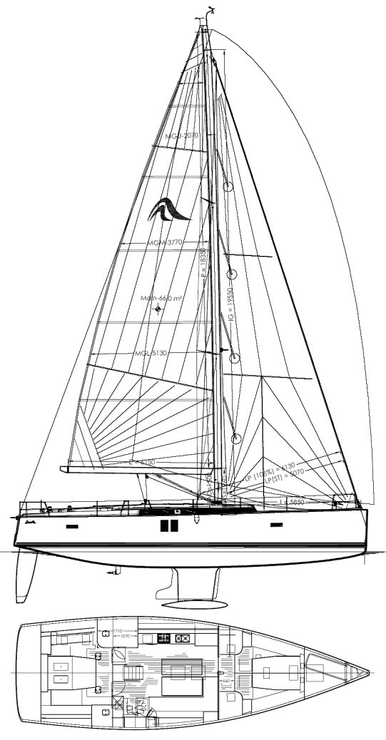 HANSE 495 drawing