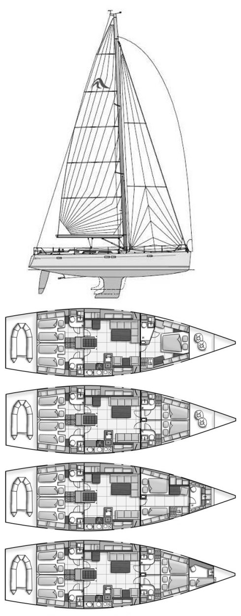 HANSE 540E drawing