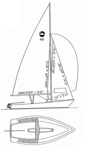 Harpoon 4.6 drawing on sailboatdata.com