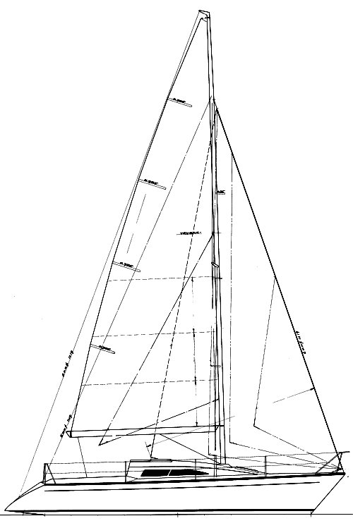 HB-31 drawing on sailboatdata.com
