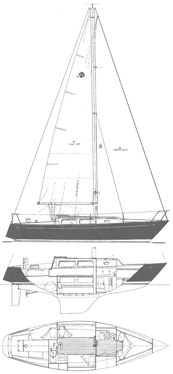 Helmes 30 drawing on sailboatdata.com