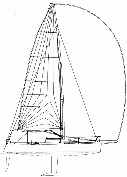 Henderson 30 drawing on sailboatdata.com