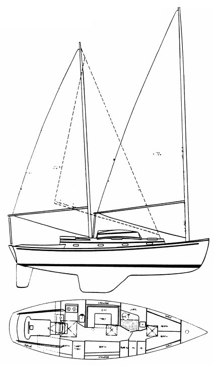 HERRESHOFF 37 drawing