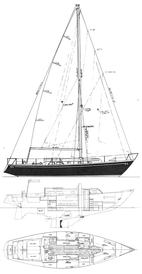 HINCKLEY 38 drawing