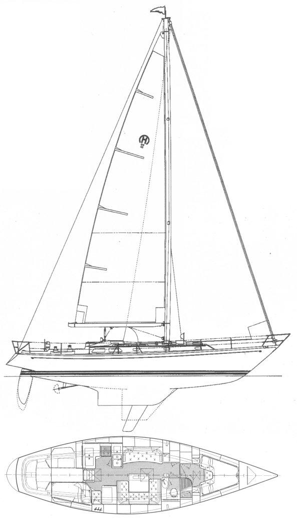 HINCKLEY 43 (MCCURDY & RHODES) drawing