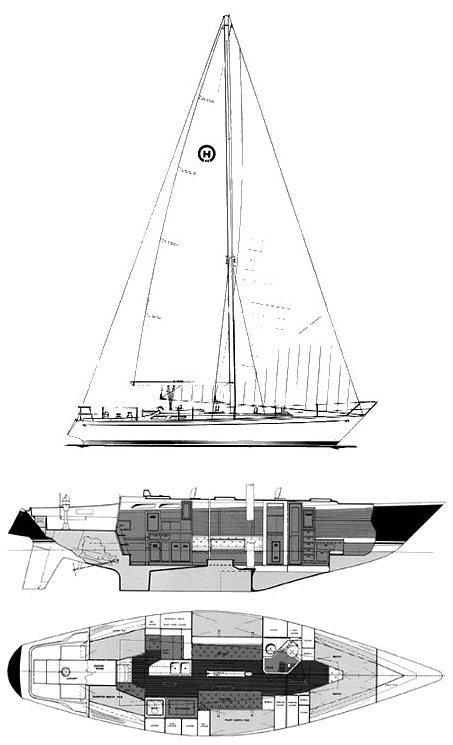 HINCKLEY 43 (HOOD) drawing