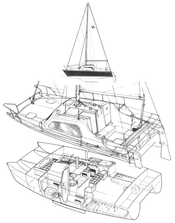 Hirondelle Mk III drawing on sailboatdata.com