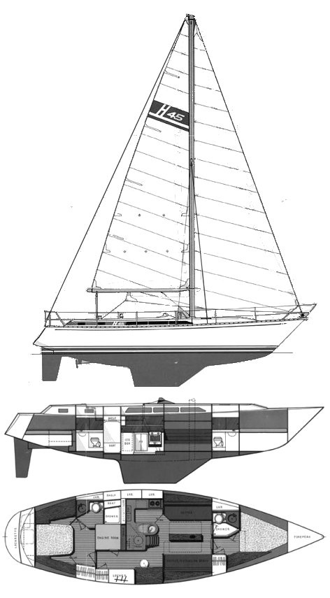 Hirsh 45 drawing on sailboatdata.com