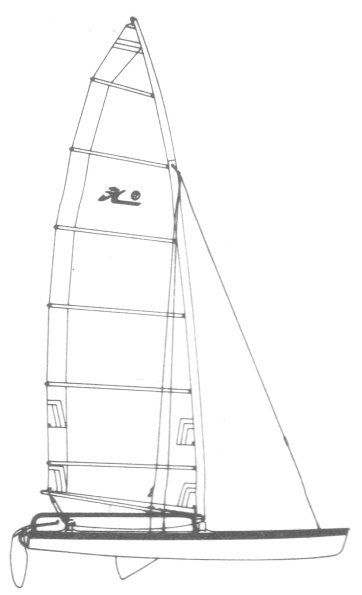 Hobie 17 drawing on sailboatdata.com