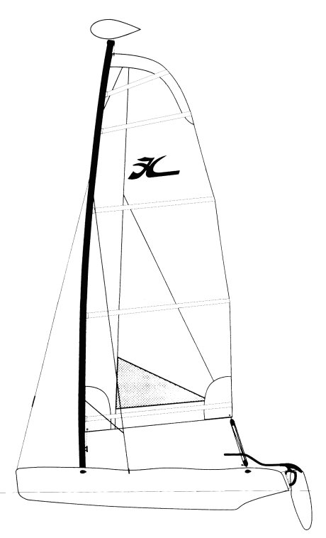 Hobie Wave (club) drawing on sailboatdata.com
