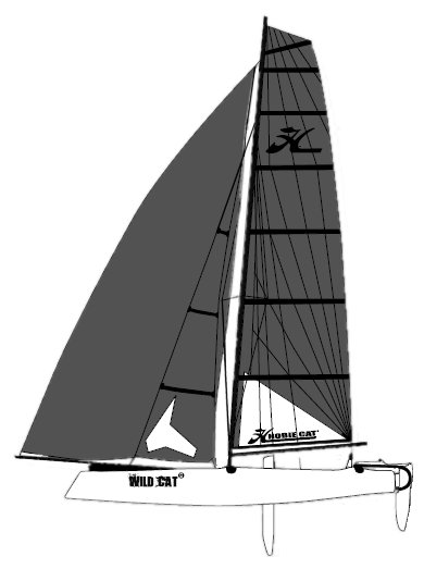 HOBIE WILD CAT F18 drawing