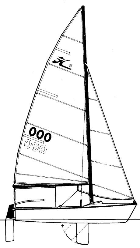 Holder 14 Mk II drawing on sailboatdata.com