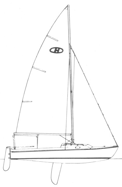 Holiday 20 drawing on sailboatdata.com