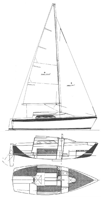 Holiday 23 (Lavranos) drawing on sailboatdata.com