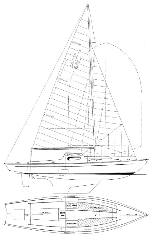 Holiday Jr. drawing on sailboatdata.com