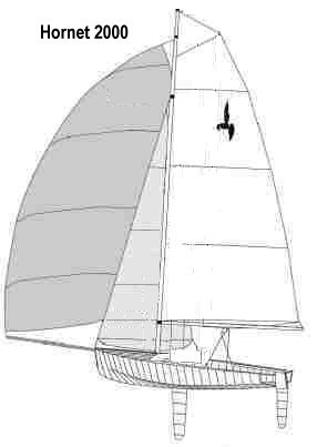 Hornet 2000 drawing on sailboatdata.com