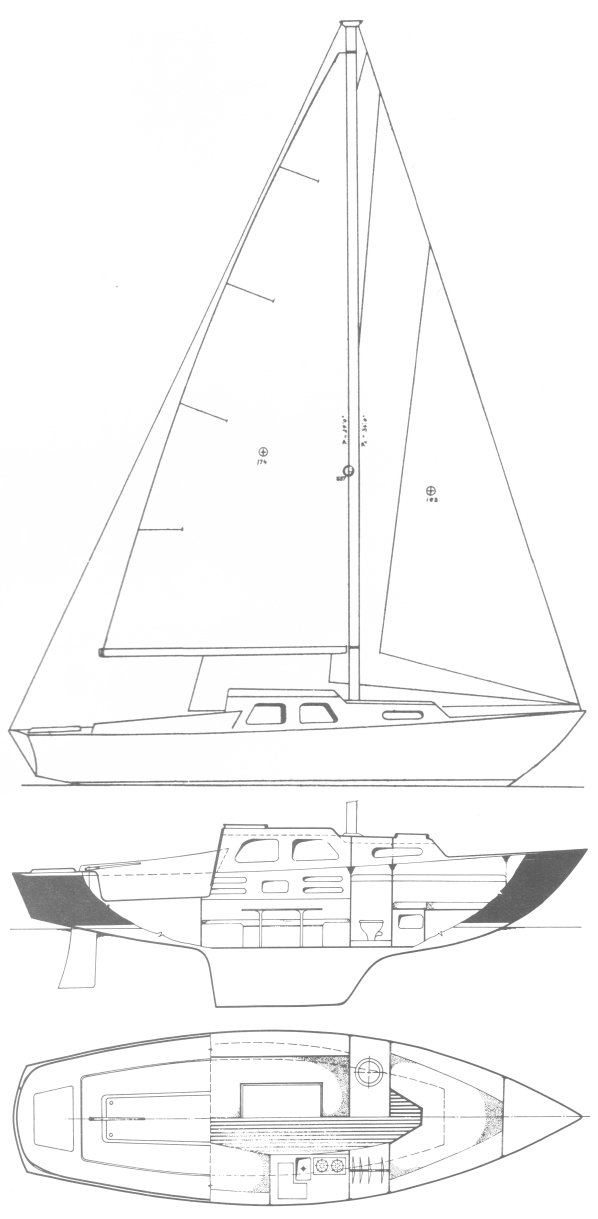 HR-28 drawing on sailboatdata.com