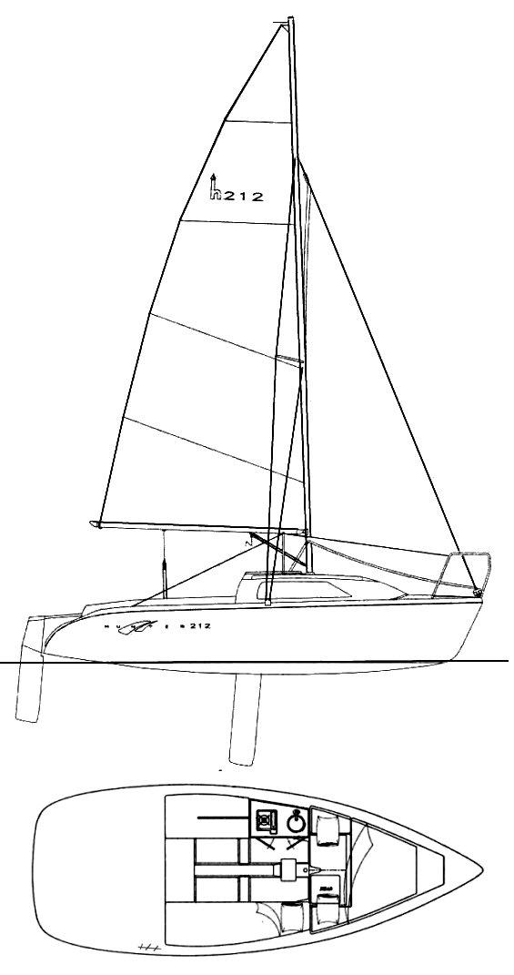 HUNTER 212 drawing