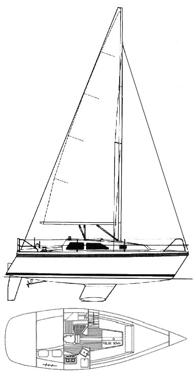 HUNTER 27-2 drawing