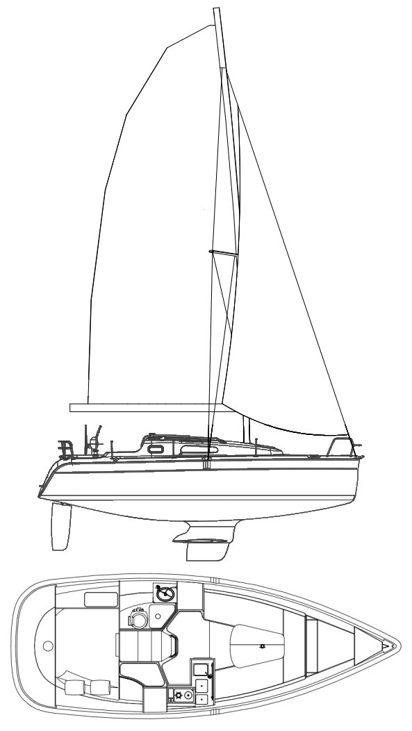 HUNTER 27-3 drawing