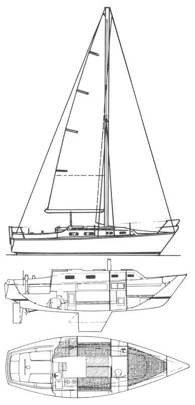 HUNTER 27 sailboat specifications and details on
