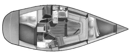 Hunter 28 drawing on sailboatdata.com