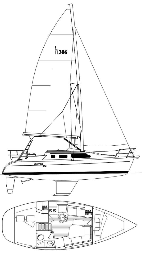 HUNTER 306 drawing