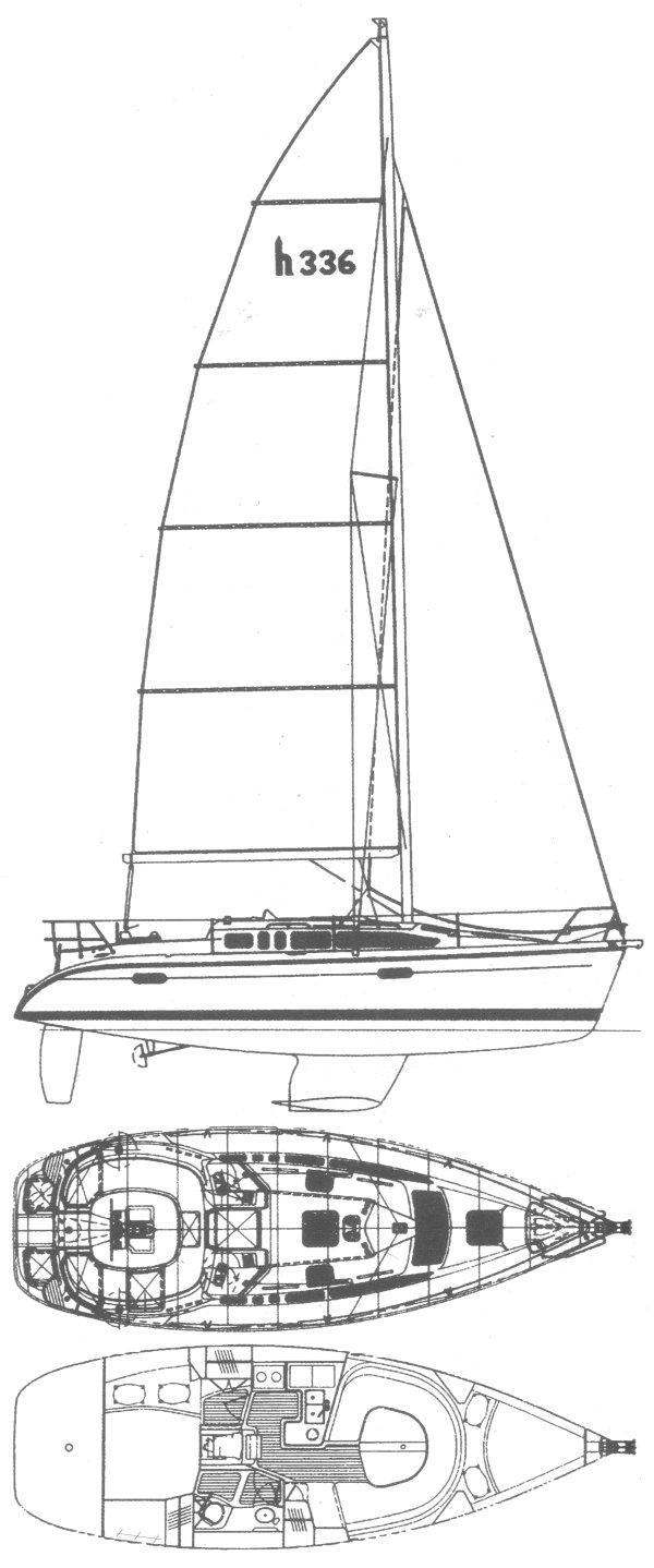 HUNTER 336 drawing