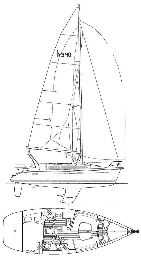 HUNTER 340 drawing