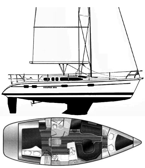 HUNTER 376 drawing