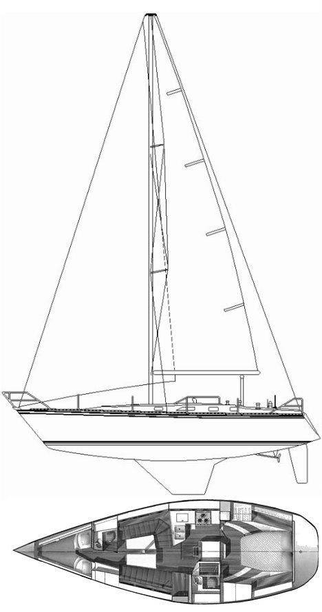 HUNTER 40-1 drawing