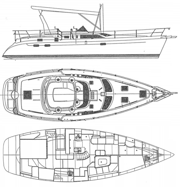 HUNTER 450 PASSAGE drawing