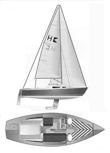 Hunter 701 drawing on sailboatdata.com