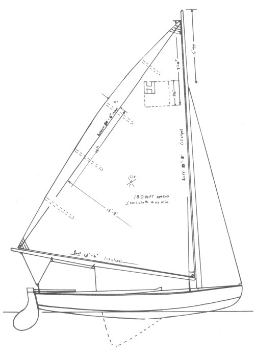 Massachusetts Bay Hustler drawing on sailboatdata.com