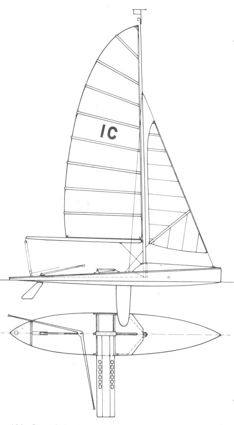 INTERNATIONAL 10 SQ METER CANOE drawing