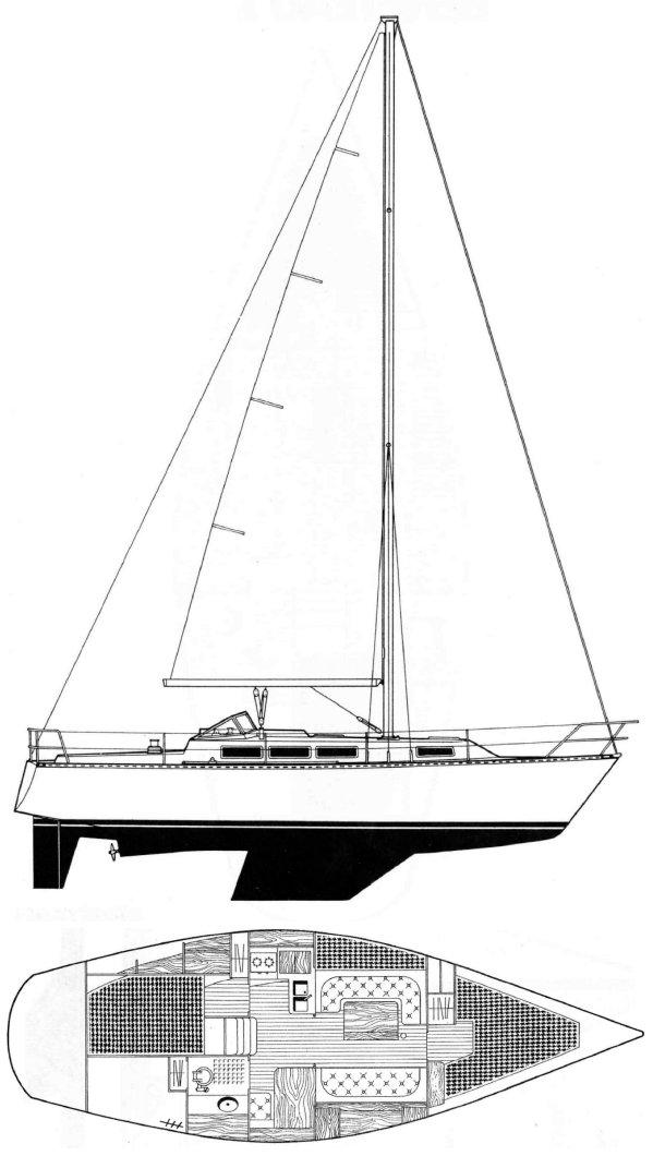 IDYLLE 1150 (BENETEAU) drawing