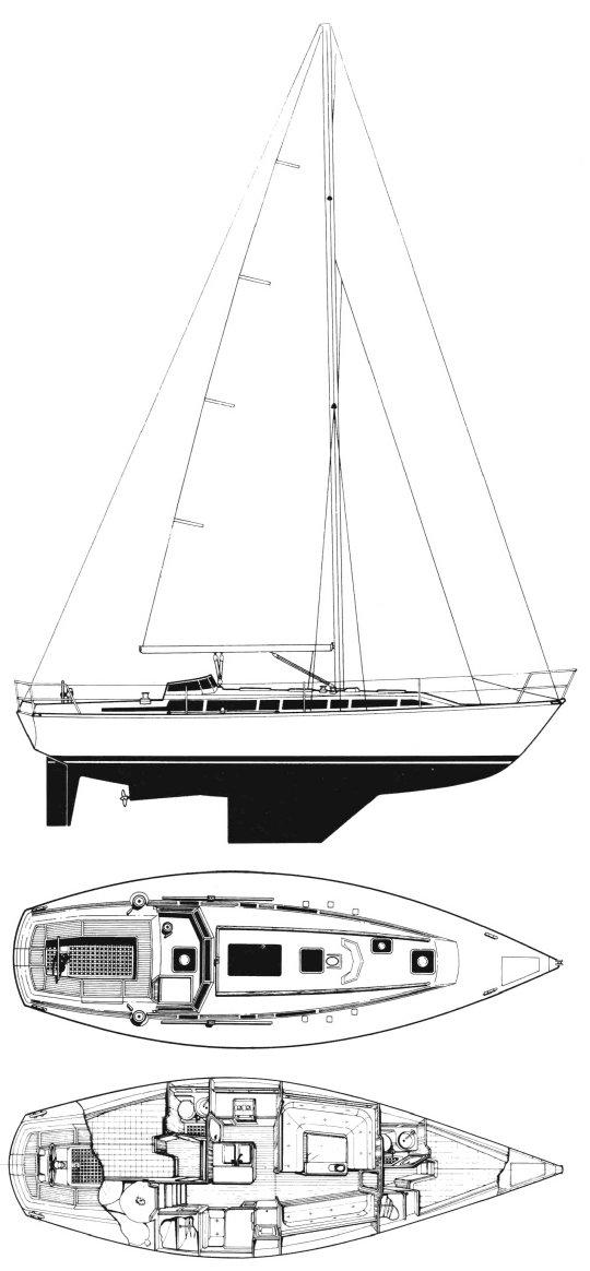 IDYLLE 1350 (BENETEAU) drawing