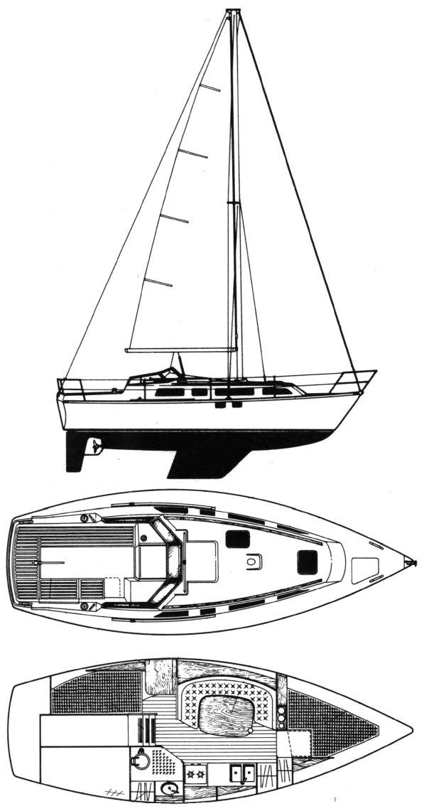 IDYLLE 8.80 (BENETEAU) drawing